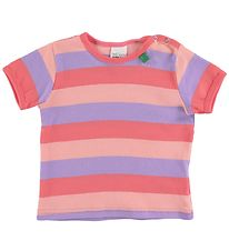 Freds World T-shirt - Multi Stripe - Koral