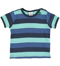 Freds World T-shirt - Multi Stripe - Blå