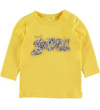 Name It Bluse - NbfFlavia - Aspen Gold m. Blomster