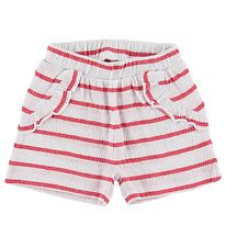Name It Shorts - NbfHollie - Claret Red m. Striber
