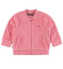 Tommy Hilfiger Cardigan - Velour - Rosey Pink