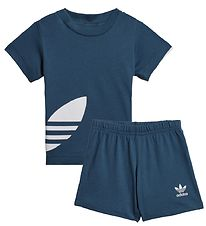 adidas Originals Sæt - Shorts/T-shirt - Big Trefoil - Night Mari