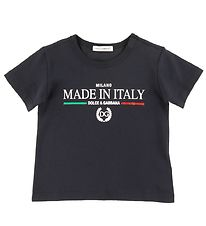 Dolce & Gabbana T-shirt - DNA Jr - Navy m. Print