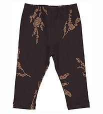Gro Leggings - Malak - Black Brown m. Print