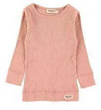 MarMar Bluse - Plain - Rib - Light Cheek