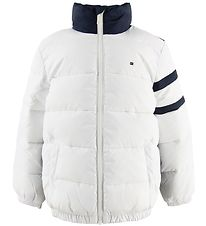 Tommy Hilfiger Dynejakke - Colour Block - Bright White