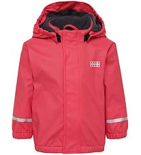 Lego Wear Regnjakke m. Fleece - PU - Julian - Mørk Pink