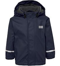 Lego Wear Regnjakke m. Fleece - PU - Julian - Navy