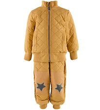 Mikk-Line Termotøj m. Fleece - Coated - Honey Mustard