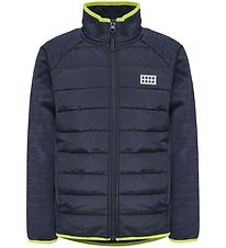 Lego Wear Fleecejakke - Lwsam - Navy/Lime