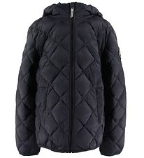 GANT Dynejakke - The Lt Weight Diamond Puffer - Sort