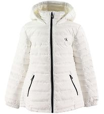 Calvin Klein Dunjakke - Fitted Light Down Jacket - Hvid
