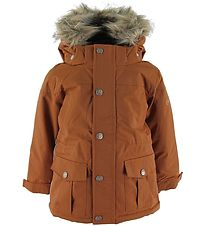 En Fant Vinterjakke - Leather Brown m. Pels