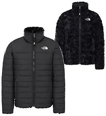 The North Face Dynejakke - Mossbud Swirl - Sort m. Pels