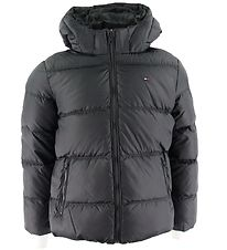 Tommy Hilfiger Dunjakke - Essential - Sort