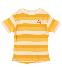 AlbaBaby T-shirt - The Bell - Daffodil Stripes