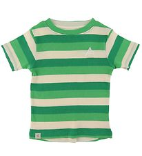 AlbaBaby T-shirt - The Bell - Kelly Green Stripes