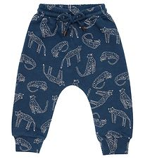 Soft Gallery Sweatpants - Meo - Majolica Blue m. Leoparder