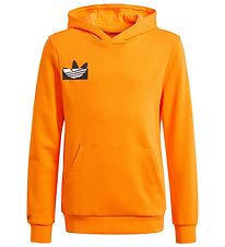 adidas Originals Hættetrøje - Orange m. Sort/Hvid