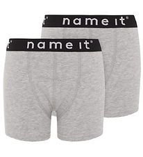 Name It Boxershorts - Noos - NkmBoxer - 2-pak - Grey Melange