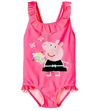 Name It Badedragt - NmfPeppapig - Knockout Pink