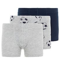 Name It Boxershorts - Noos - NmmTights - 3-pak - Grey Melange