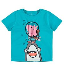 Name It T-shirt - NmmPeppapig - Peacock Blue
