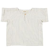 MarMar T-Shirt - Tomba - White Sage Stripes