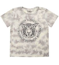 Petit by Sofie Schnoor T-shirt - Julius - Warm Grey m. Tiger