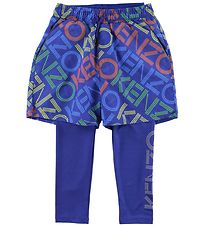 Kenzo Leggings/Shorts - Exclusive Edition - Vivid Blue m. Logo