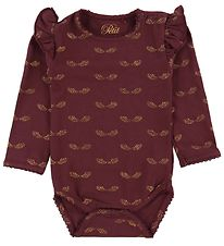 Petit by Sofie Schnoor Body l/æ - Dicte - Bordeaux m. Glimmer