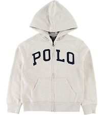 Polo Ralph Lauren Cardigan - Beige Heather m. Tekst