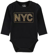 Petit by Sofie Schnoor Body l/æ - NYC - Sort m. Glimmer