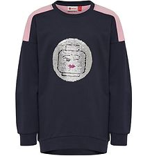 Lego Wear Sweatshirt - Tulla - Navy m. Pailletter