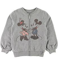 Wheat Disney Cardigan - Mickey & Minnie - Gråmeleret