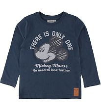 Wheat Disney Bluse - The Only One - Indigo m. Mickey Mouse