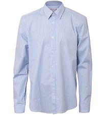 Hound Skjorte - Striped Loose Fit Shirt - Lyseblå m. Striber