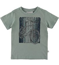 Wheat T-shirt - On The Road - Lead Blue