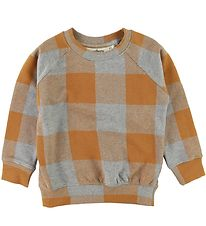Soft Gallery  Sweatshirt - Chaz - Plaid - Gråmeleret/Karry