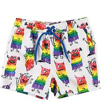 Stella McCartney Kids Badeshorts - Hvid m. Monstre