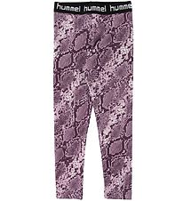 Hummel Tights - HMLMimmi - Mauve Shadow/Slangeprint