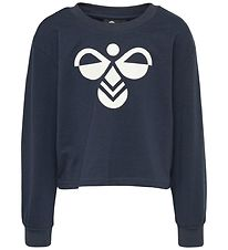 Hummel Sweatshirt - Cinco - Navy m. Logo