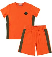 Moncler Sæt - T-shirt/Shorts - Completo - Orange