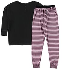 Say-So Pyjamas - Sort/Rosa
