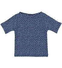 Petit Crabe Badebluse - Luna - UV50+ - Navy m. Blomster