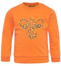Hummel Sweatshirt - Lime - Orange/Leo