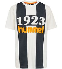 Hummel T-shirt - Huntly - Hvid/Sort m. Logo