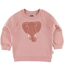 DYR Sweatshirt - Bellow - Rose Glow m. Elefant/Glimmer
