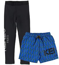 Kenzo Leggings/Shorts - Exclusive Edition - Sort/Blå