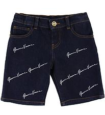 Versace Shorts - Denim - Navy m. Allover Logo